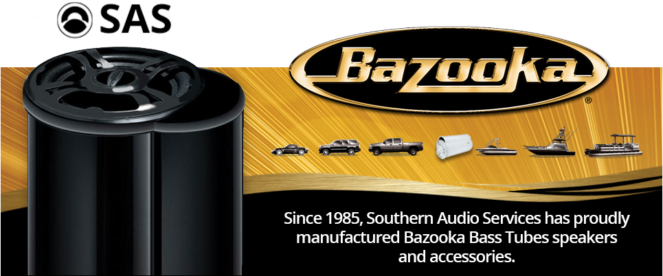 Bazooka's award winning Bass Tubes technology provides precise bass response in a space-efficient design.
